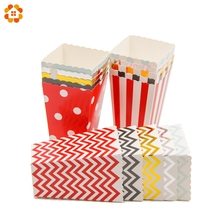 12PCS/Lot Popcorn Box Mutil Style Theme Party Decoration For kids Happy Birthday Christmas Wedding Party Baby Shower Supplies