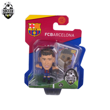 Soccerstarz Hand-painted 5cm Barcelona Neymar Jr-Home Kit (2017 version) Figures Fashion football star doll value for Collection