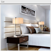 Modern minimalist living room bedroom bedside lamp decorative stainless steel engineering hotel clubs Table light Rmy-0263