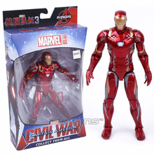 HOT Avengers Iron Man Black Panther Hawkeye Captain America Vision Black Widow PVC Action Figure Collectible Model Toy Boxed