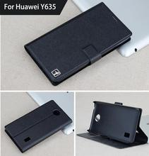 Wholesale For HUAWEI Ascend Y635 Case Luxury Flip Leather Cell Phone Cover Book Style Stand Case For HUAWEI Ascend Y635