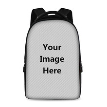 17 Inch Customized Printing School Backpack Youth Boy Girl Laptop Bag Store 15 Inch Computer Children's Favorite DIY Multi Bags