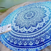 Drop Shipping Indian Vintage Round Tapestry Wall Hanging Beach Throw Towel Yoga Mat Boho Decor Table Cloth(China)