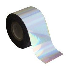 120m*4cm Rainbow Laser Nail Transfer Foil Rolls DIY Adhesive Full Wrap Nail Sticker Decals Holographic Nail Foils WY262(China)