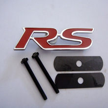 RS Grille Emblem Sticker Badge Sticker Car Styling For Focus Chevrolet cruze Kia Rio Sportage Skoda Octavia Mazda 3,Car Decals(China)