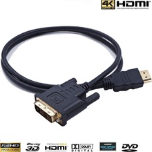 30CM 1FT 15FT 5M HDMI to DVI DVI-D cable 24+1 pin adapter cables 1080p for LCD DVD HDTV XBOX PS3 High speed hdmi cable(China)