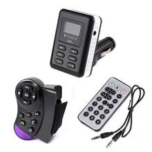 LCD Bluetooth Car Kit Handsfree MP3 Player FM Transmitter Steering Wheel Remote USB SD MMC for iPhone 5 6 S6 Note 3 4 Neo N9000
