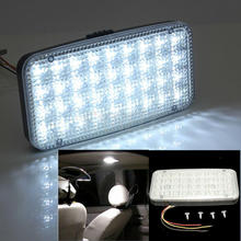 50PCS/LOT 12V 36 White LED Ceiling Dome Roof Interior Light Lamp For Car Auto Van Vehicle(6.8)