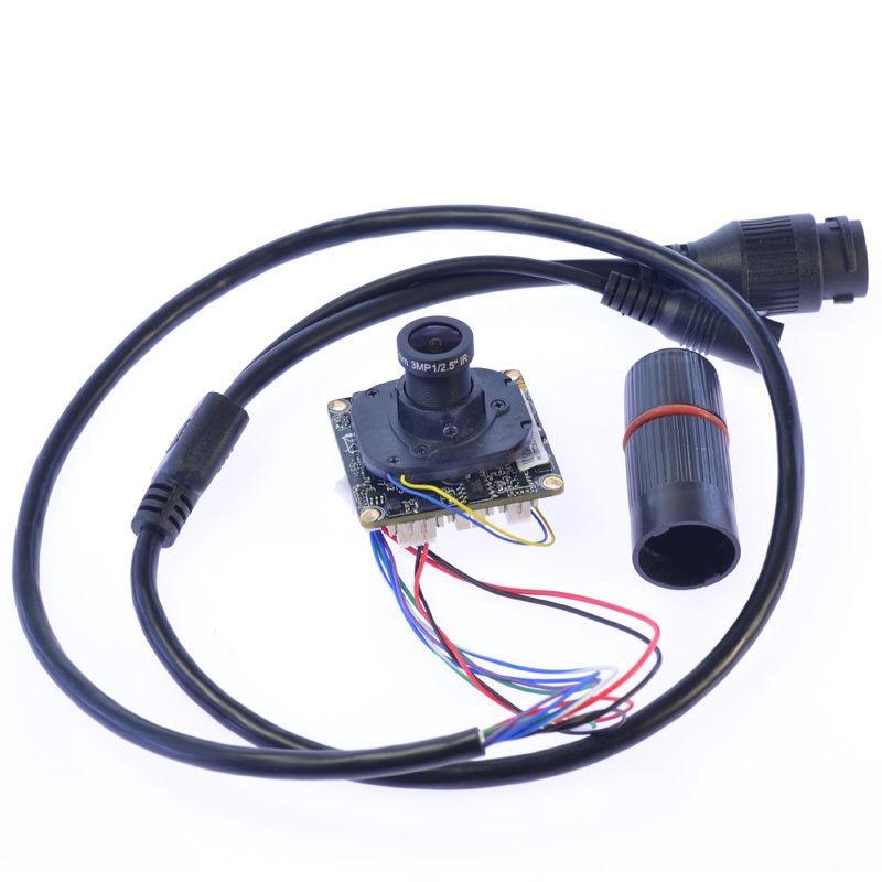 HD IP Camera Module 1080P 2.0MP CCTV PCB Main Board Hi3516C 3.6mm 3MP lens<br>