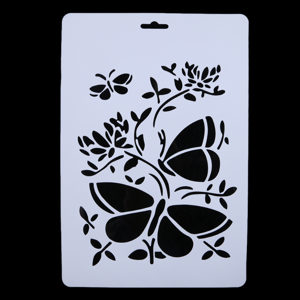 Online get cheap free wall stencils aliexpress alibaba group 6x layering stencils for walls painting scrapbooking embossing diy paper cards crafts stamping stamps photo album amipublicfo Images