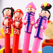 new cute Creative Stationery gift cartoon pen polymer clay ballpoint pen logo Christmas pen gift