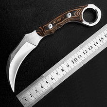 Fox tactical Karambit Knife Camping tools Knife fixed Claw Machete amping pocket survival tools Cold Steel Hunting Combat Messer(China)