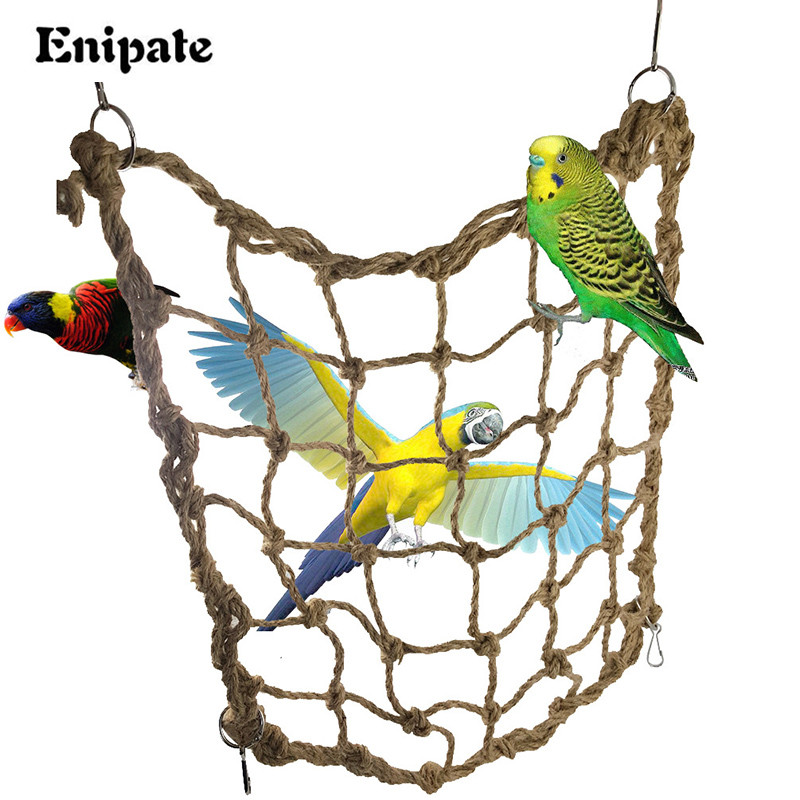 Blytieor Macaw large hemp rope Climbing net Parrot Bird Cage Toy Hanging Rope Climbing net Parrot Training Climbing Swing Ladder(China (Mainland))