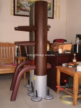 Unique Wenge Wing Chun Wooden Dummy with Big Suction Cup Mater Collection(China)