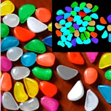 50Pcs /Pack Gravel for Garden Yard Glow in the Dark Pebbles Stones Walkway Wedding Party Supplies Luminous Ornaments Decoration(China)