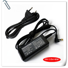 New AC ADAPTER for Acer 19V 2.15A ADP-40TH Aspire One ZG5 A 10.1 8.9 A110 + Cord charge for laptop caderno carregador(China)