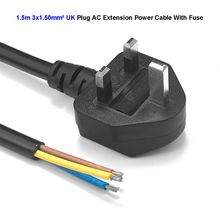 UK Plug Extension Power Cable 3 Pin Prong Kettle Lead Main Extender AC Switching Power Supply Cord 1.5m 5ft 1.5mm2(China)