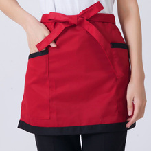 Men and Women Apron Waiter Half Length Black Short Kitchen Chef Apron Restaurant Coffee Shop Aprons Keukenschort Delantal