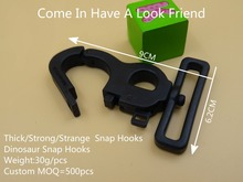 NEW For 50mm Webbing 2pcs Thick Strong Strange Black Plastic Swivel Clips Snap Hook Simple opening Firm Closure For Bag Straps(China)