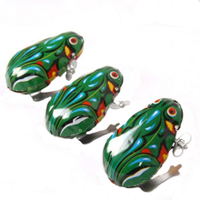 1Pc Children Baby Cute Classical Jumping Frog Clockwork Wind Up Toys Games Creative Kids Metal Christmas Party Novelty Gifts