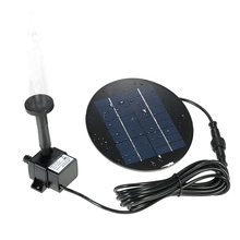9V 1.5W Solar Panel Solar Powered Water Pump Fountain Submersible Brushless Water Pump Kit for Bird Bath Pond Pull Garden