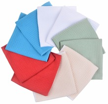 Microfiber Waffle Weave Kitchen Tea Towels Dish Drying Towels Washcloths Face Hand Towels - Assorted Colors 16x24inch 70 Pieces(China)