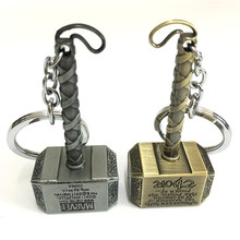 The Avengers jewelry Thor Hammer Keychain Metal The Avengers Mjolnir Figure Pendant Key Chains Movie Accessory chaveiro Llavero