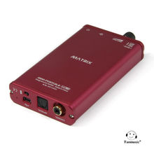 MATRIX Mini-Portable DAC 24bit/192KHz Portable Amplifier Decoder AMP DAC red