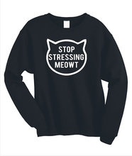 Stop Stressing Meowt Love Cats Print Women Sweatshirt Jumper Casual Hoody For Lady Funny Black Street Tumblr TZ2-96