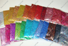 Mixed 24 Holographic Laser Colors 0.4MM 015inch Shining Nail Glitter Dust Powder for DIY Nail Glitter Crafts Art Decoration