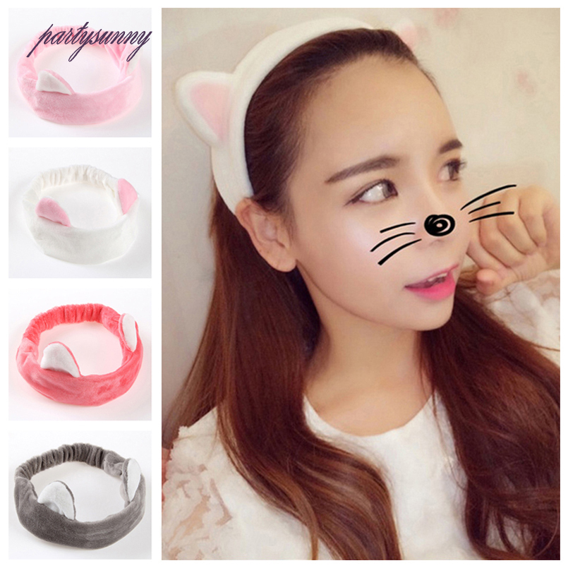 PF Cat Ears Headbands for Women Elastic Hair Band Cloth Headwear Hair Hoop Fascinator Hair Holder Accessories for Girsl TS1074(China (Mainland))