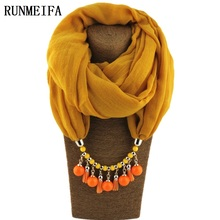 Summer Spring Scarf Necklace Women's Shawls and Scarves Jewelry Pendant Scarfs Bufandas Mujer Female Beach