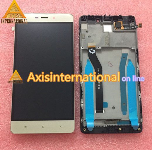 LCD screen Display+ Touch digitizer with frame For 5.0 Xiaomi Redmi 4 pro prime ROM-32G black/gold/white  free shipping<br>