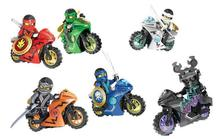 6Pcs 258A Hot Ninja Motorcycle Building Blocks Bricks toys Compatible legoINGly Ninjagoed Kids Gift