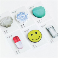 Novelty Post-it Transparent Parchment Paper Sticky Notes Creative Cute Message Note Memo Pads Cartoon Index Notepads