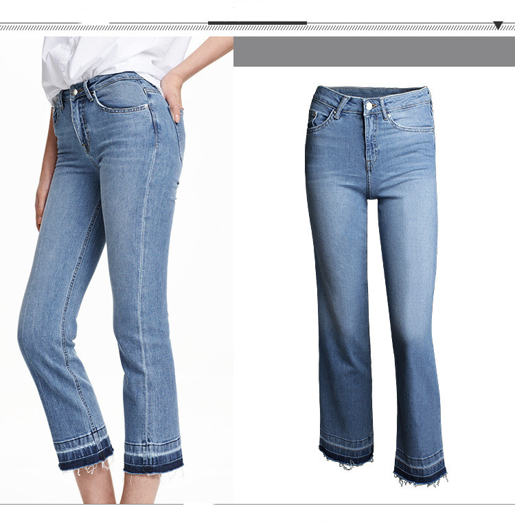 Womens Jeans High-Waist Calf-Length Basic Style Denim Elastic Stretching Skinny Boot Cut Spring Summer Ladies Fashion Jeans Одежда и ак�е��уары<br><br><br>Aliexpress