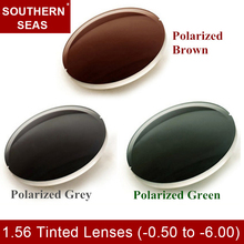 Tinted Brown Green Gray 1.50 High Index Lenses -0.50 to -6.00 Premium Lens Prescription Low Curvature Polycarbonate Lenses