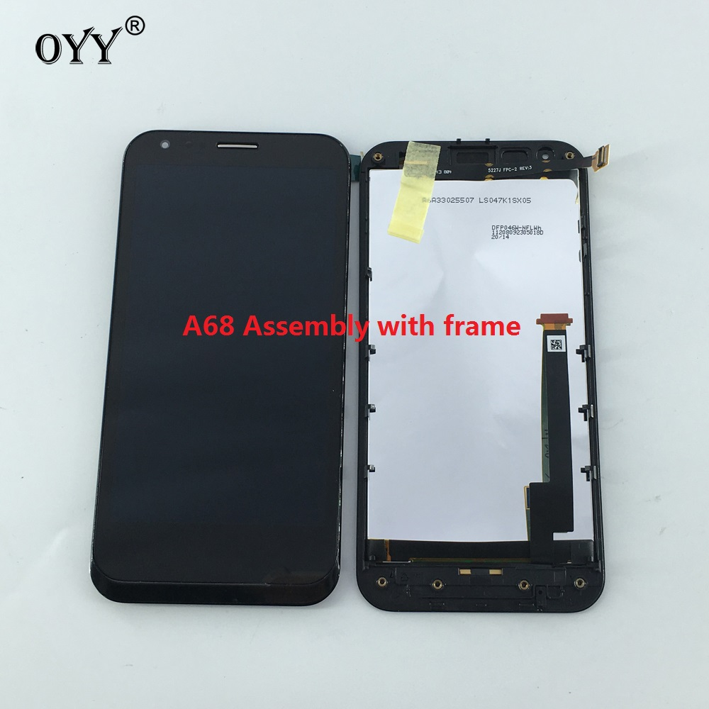 LCD Display Panel Screen Monitor Touch Screen Digitizer Glass Assembly with frame 4.7 inch For ASUS Padfone2 Padfone A68 BLACK<br>