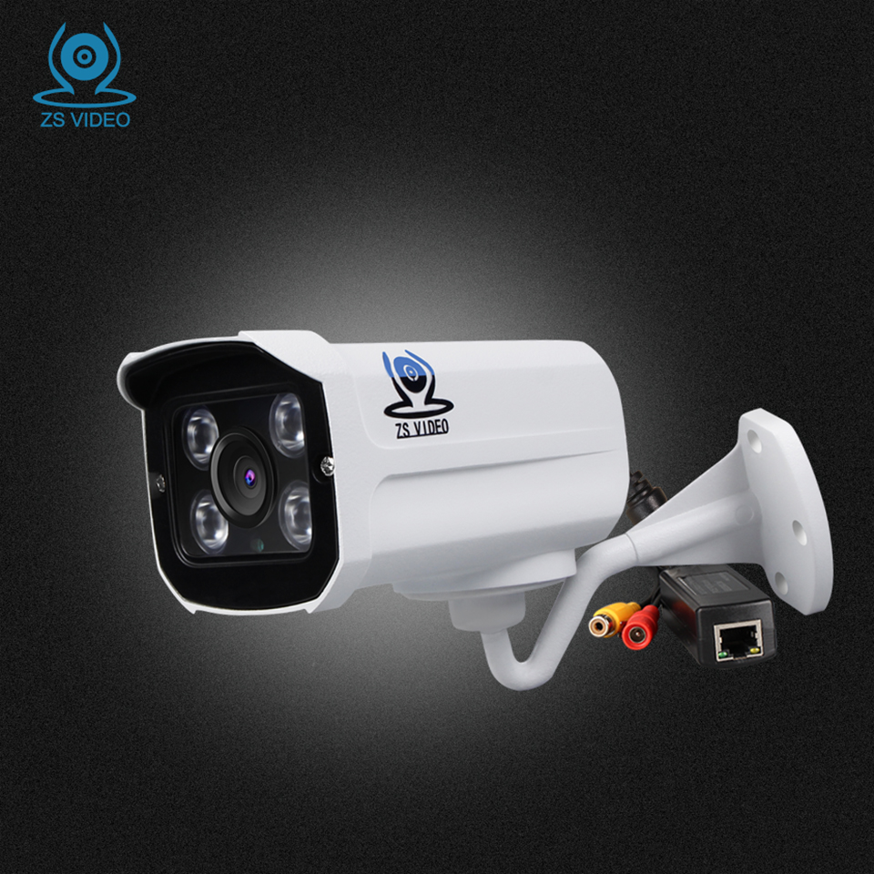 ZSVEDIO Surveillance Cameras Onvif POE IP Camera Alarm System CCTV Cameras HD IP Camera POE CCTV Monitor IR Night Vision Webcam<br>