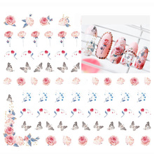 3pcs/lot  DIY Nail Art Stickers Flower Water Transfer Sticker Decals Children Nail Art Korea Manicure Tools Nails Accessory