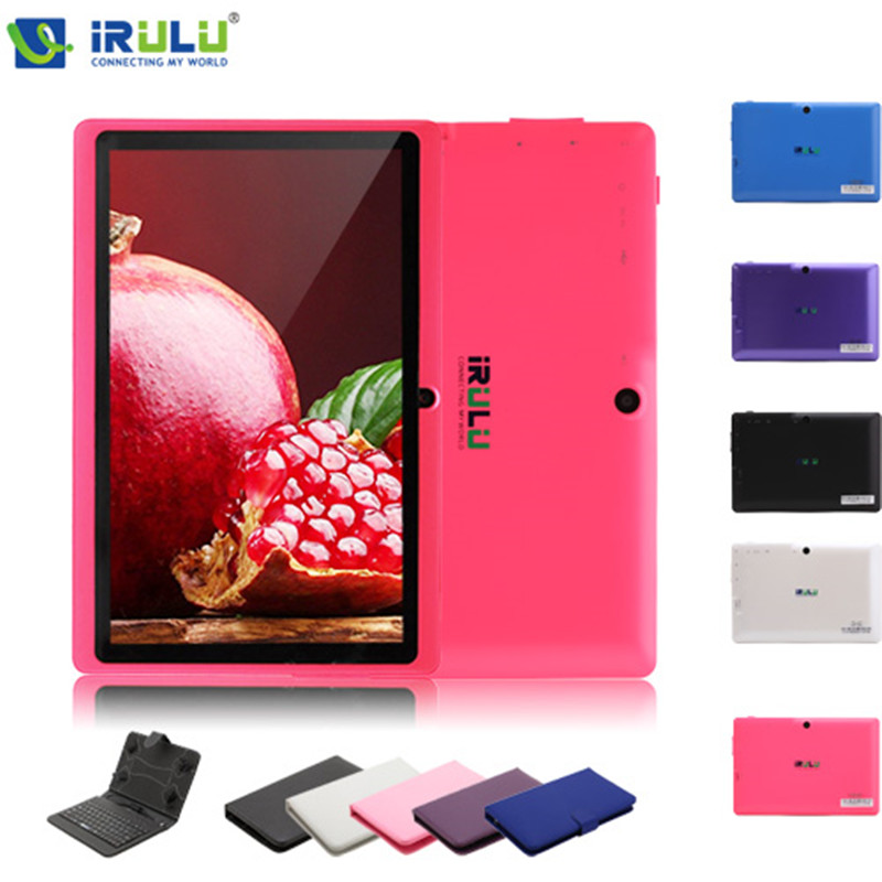 iRULU eXpro X1 7 Inch Android 4.4 Tablet PC Quad Core 8G ROM 1024*600 HD Dual Cam support Wifi with EN Keyboard Case Hot Selling<br><br>Aliexpress