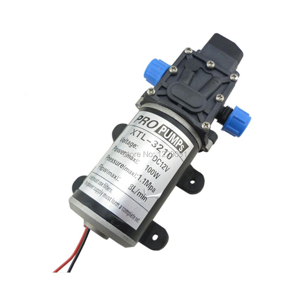 DC 100W Automatic switch Diaphragm pump high pressure small electric Water Pump 12v  mini 8L/min self priming sprayer pump<br><br>Aliexpress