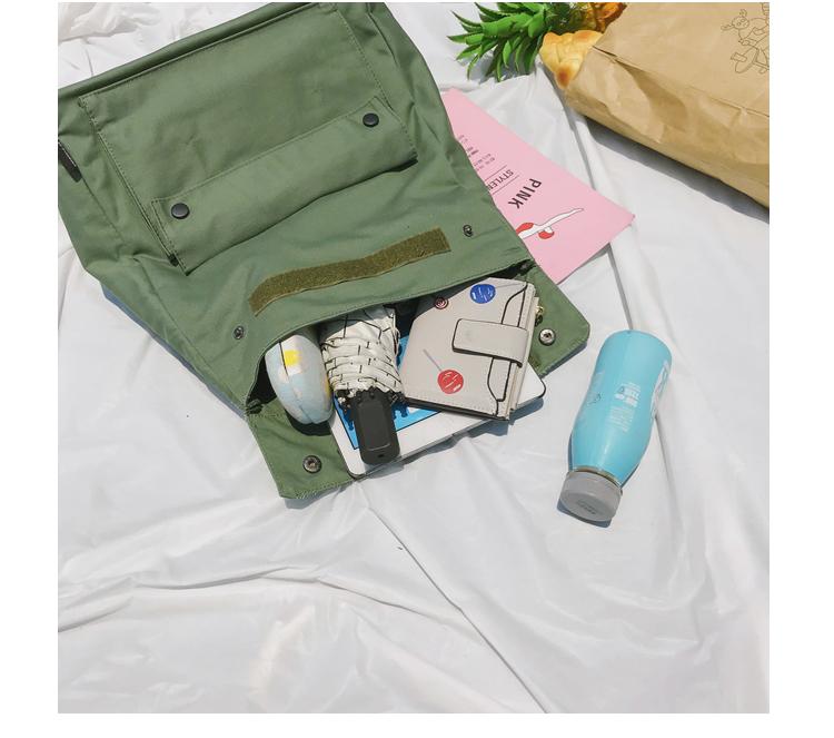 Menghuo Brand Female Women Canvas Backpack Preppy Style School Lady Girl Student School Laptop Bag Cotton Fabric bolsas00_38