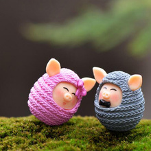 2017 Real Sale S Dragon Ball Fashion Cartoon Plastic Cute Mini Animal Model Puzzle Diy Lovely Wool Pig Dolls Design Kids Toy