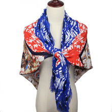 145*135CM Cachecol Feminino 2017 Winter Brand Fashion Designer Printing long Viscose Blend Casual Scarf Women Scarves Shawl Wrap(China)