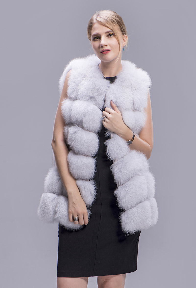 fox fur vest 70cm blue fox 3 1