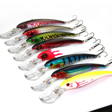 8 Pcs/lot 3D Eyes Plastic Crank Bait Swimbait 30g 16.5cm Minnow Fishing Lures and Each One of Each Color of Lures #C0(China)