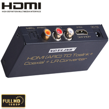 High Quality HDMI v1.4 ARC To Toslink/ Coaxial / Analog +L/R Audio Converter Adapoter With ARC Function