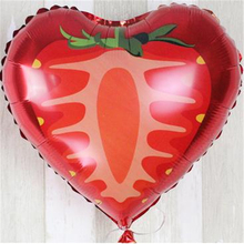 2018 Time-limited Balon 6 Pieces A Pack 18inch Orange Strawberry Watermelon Foil Helium Balloons Various Shape And Color Fruit(China)