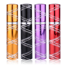 New 8ml portable perfume atomizer 4 Colors empty glass bottles Mini Cosmetic Sprayer(China)
